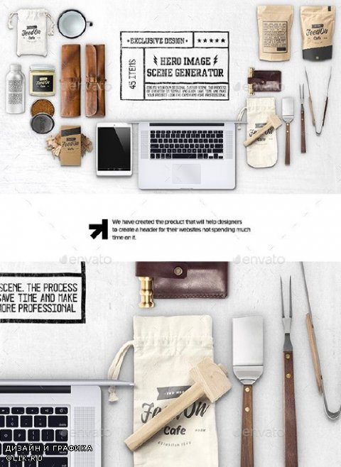 Hero Kitchen Essentials Mockup Creator - 12057296