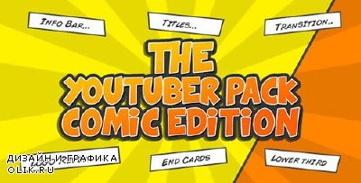 The YouTuber Pack - Comic Edition - Project for AFEFS (Videohive)