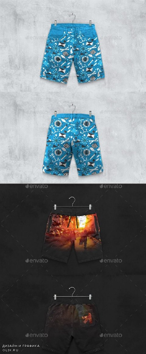 Shorts Boxer Briefs Mockup  - 11081528