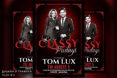 Classy Fridays Flyer Template - 806451