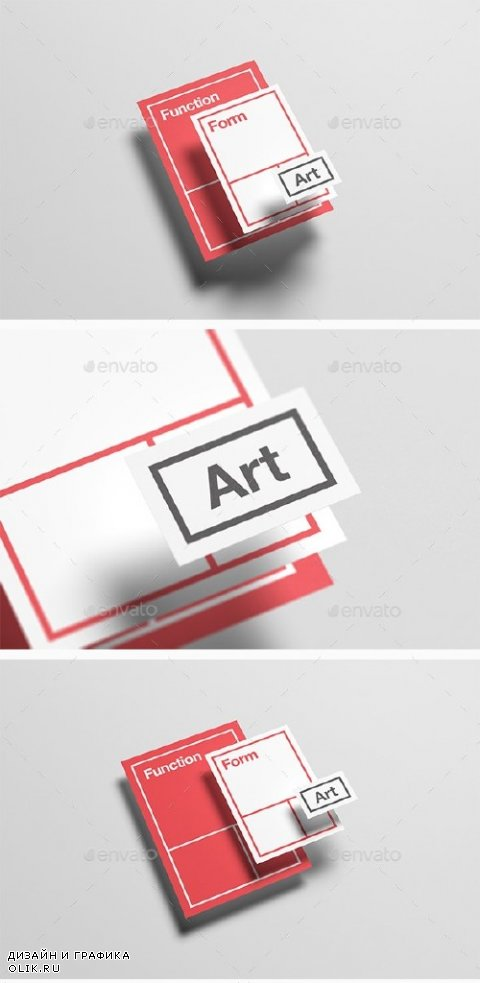Floating Stationery Mock-Up - A4, A5, Business Card - 14328170
