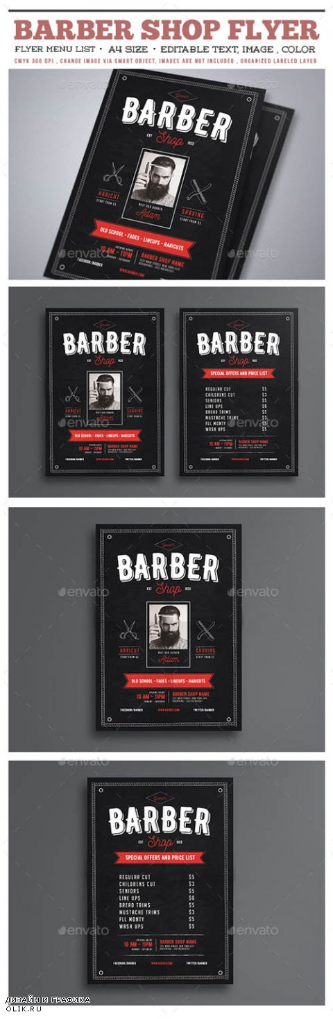 Barber Shop Flyer 15625792