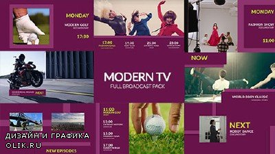 Modern TV - Full Broadcast Pack - Project for AFEFS (Videohive)