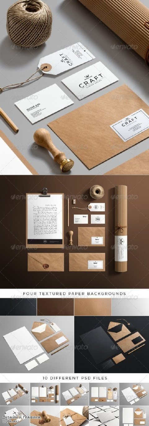 Stationery / Branding Mock-Up -  Craft Edition - 6281184