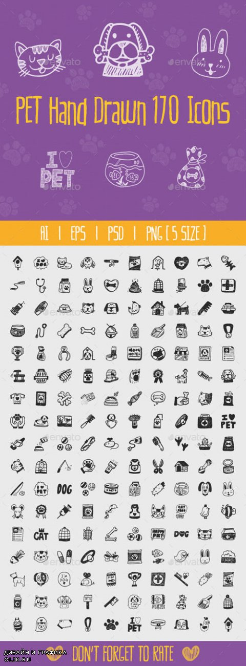 Pet Hand Drawn Icons 12163036