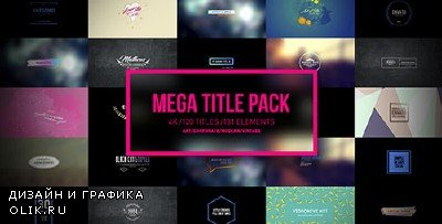 Mega Titles 4K Project - Project for After Effects (Videohive)