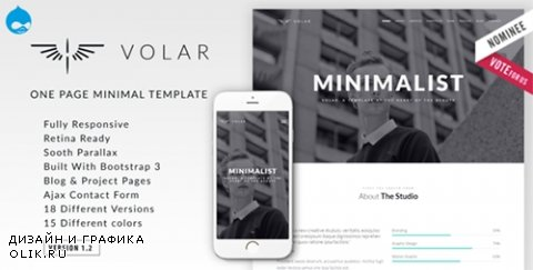 t - Volar v1.2 - One Page Minimal Parallax Drupal Theme - 13858082