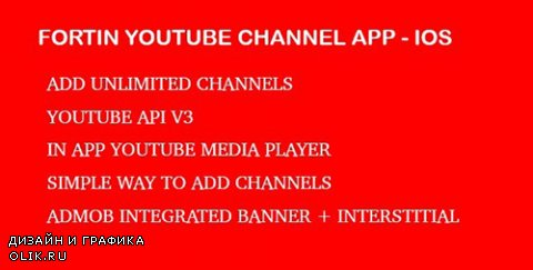 CodeCanyon - Fortin Video Channel App - Youtube Api V3 IOS - 12581817