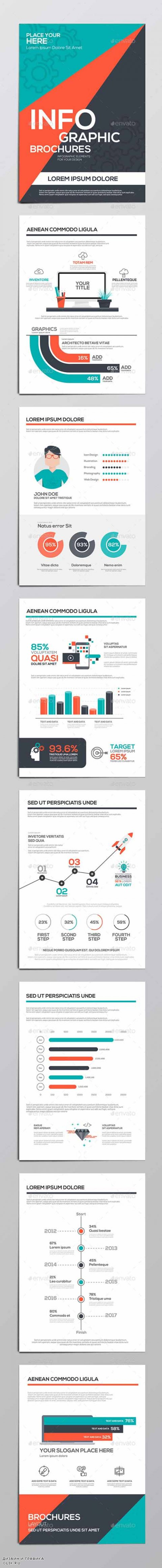 Infographics Elements for Corporate Brochures 13079683