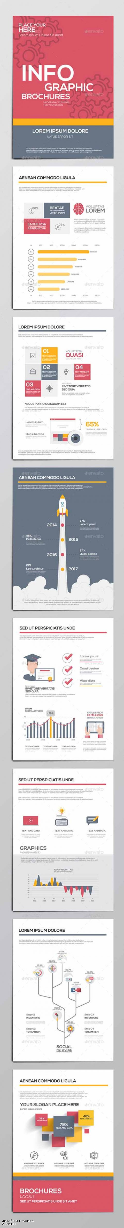 Infographics Elements for Corporate Brochures 13079655