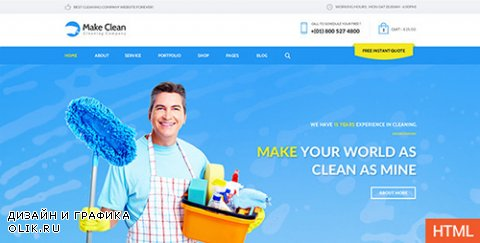 t - Make Clean v1.1 - Cleaning Company HTML Template - 11372647
