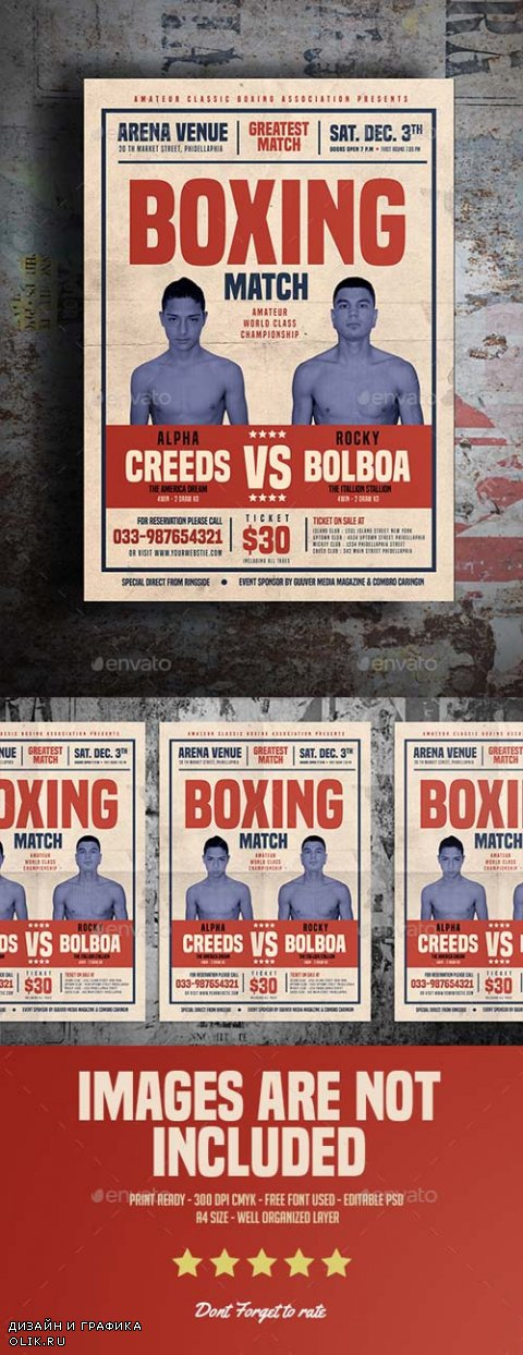 Old Vintage Boxing Flyer 15754065