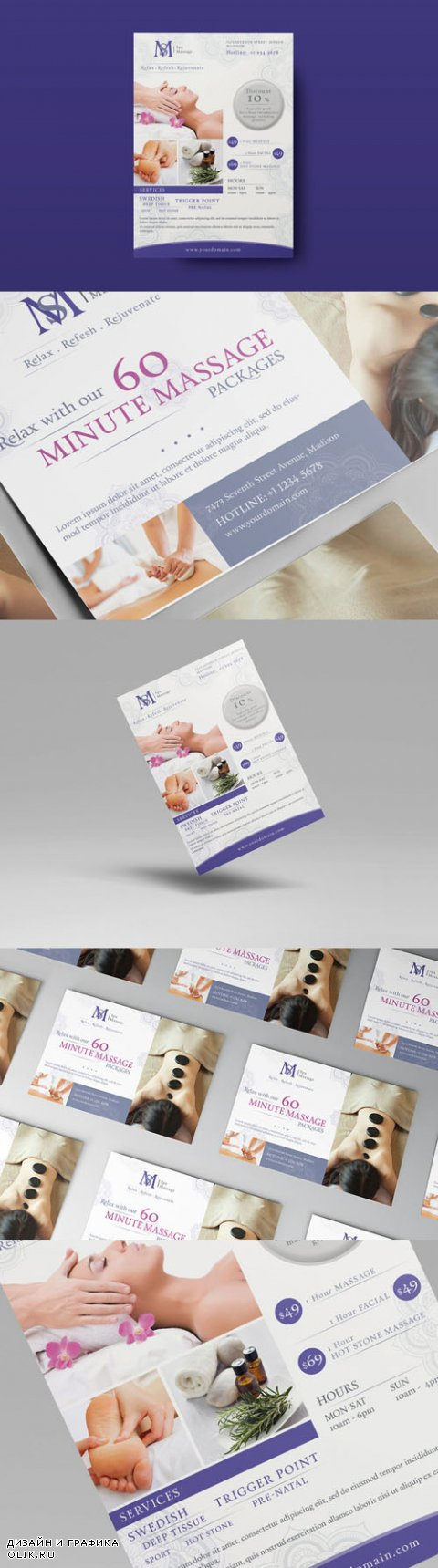 PSD Massage - Ad & Flyer Template