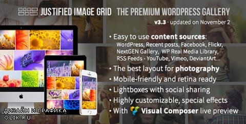 CodeCanyon - Justified Image Grid v3.3 - Premium WordPress Gallery - 2594251