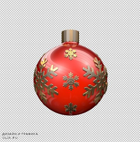 Red Christmas ball 360 Animation