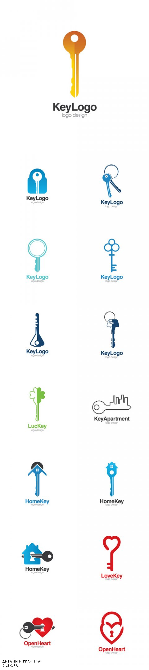 Vector Key Creative Concept Logo Design Template