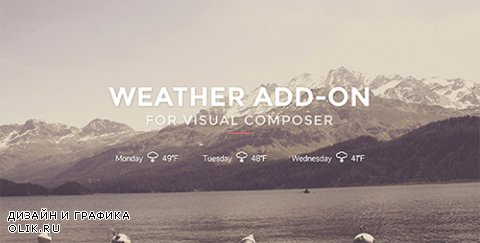 CodeCanyon - Weather for Visual Composer v1.0 - 15560129