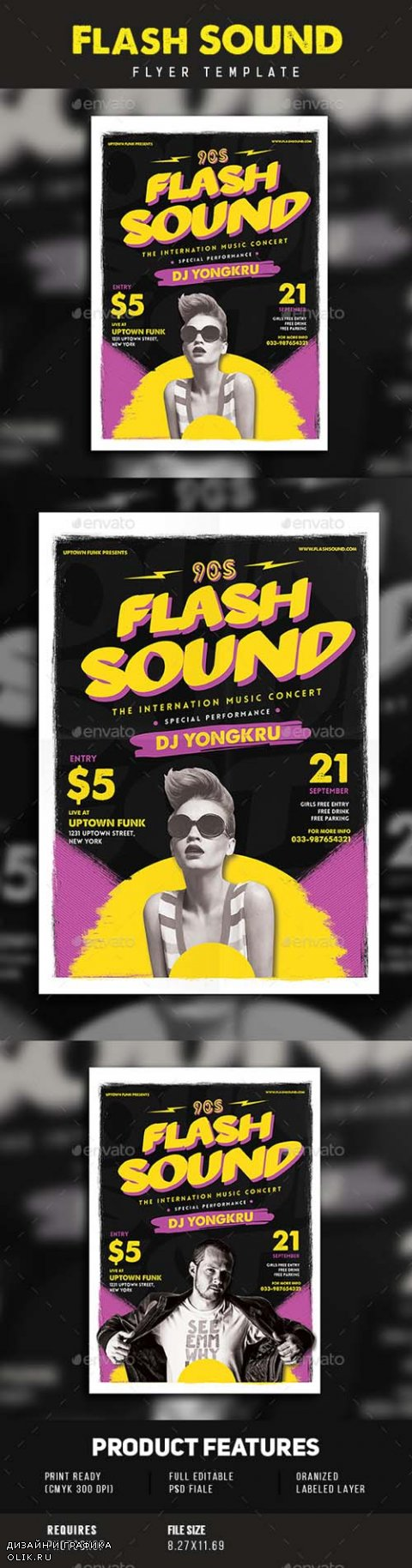 Flash Sound Music Party Flyer 15894719