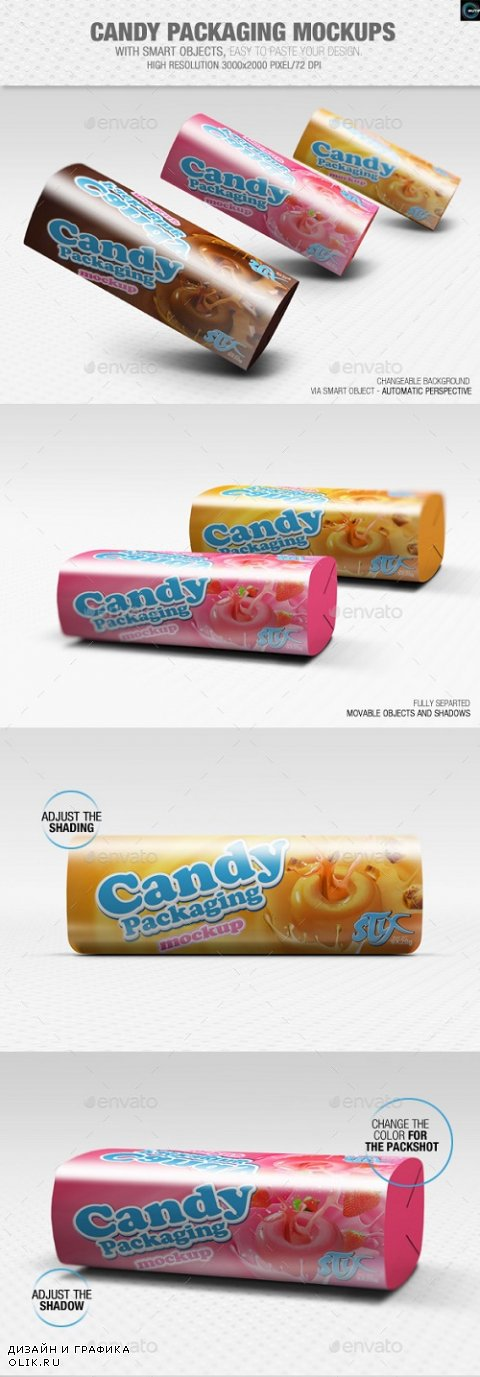 Candy Packaging Mockups - 8864374