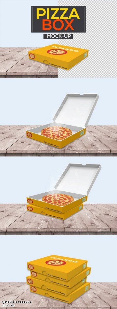 Pizza Box Packaging Mock-Ups - 1045134
