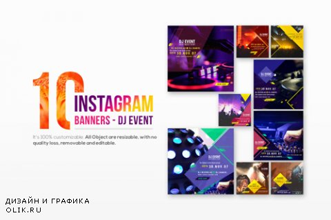 10 Instagram Post Banners-DJ Event