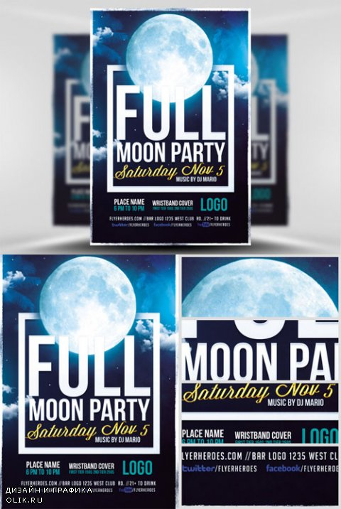 Flyer Template - Full Moon Party