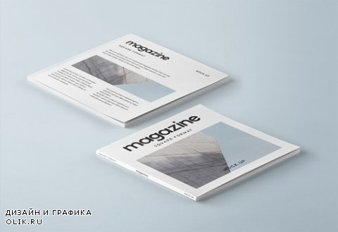 Square Psd Magazine Mockup Vol 3