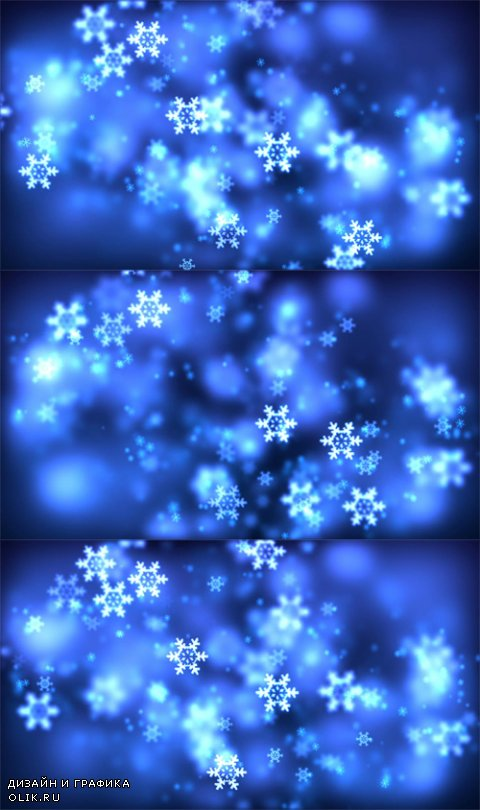 HD Footage - Christmas loopable background with nice falling snowflakes