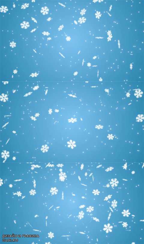 HD Footage - Footage Falling snowflakes on the light blue background