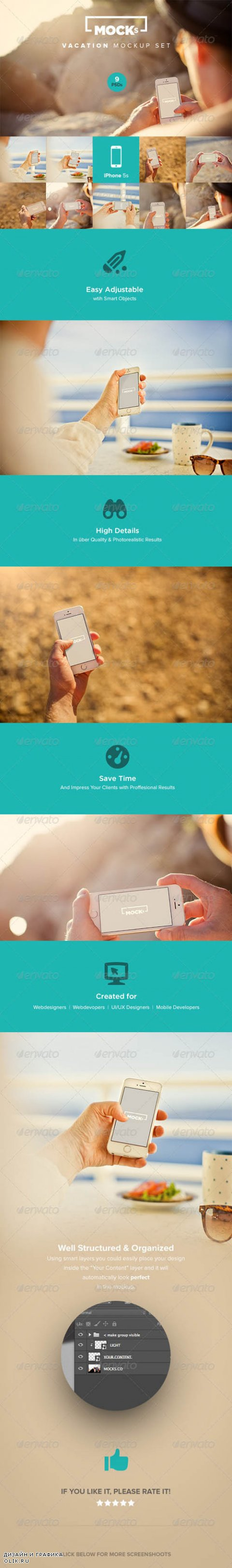 Photorealistic iPhone Mockup Templates 8118721