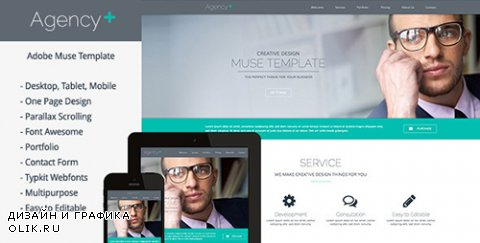 t - AgencyPlus v1.4 - One Page Multi-Purpose Muse Template - 6547812