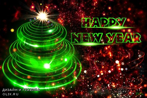 Festive New year PSD source