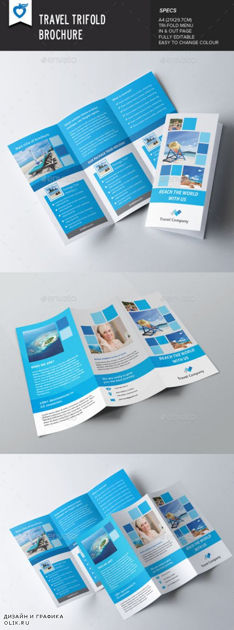 Travel Trifold Brochure 8838025