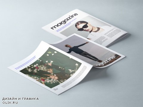 A4 Magazine Booklet Mockup Vol 2