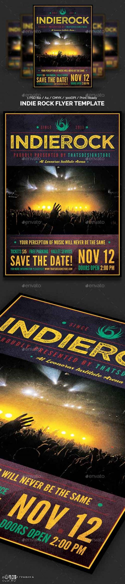 Indie Rock Flyer Template 19130024