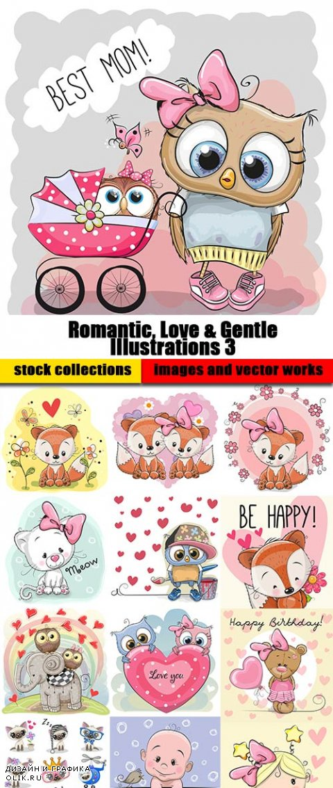 Romantic, Love & Gentle Illustrations 3