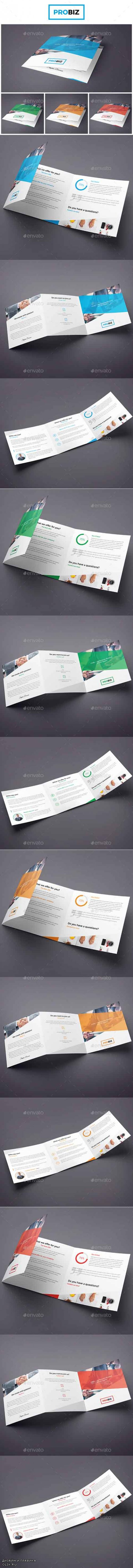 ProBiz – Business and Corporate Brochure Tri-Fold Square 19003034