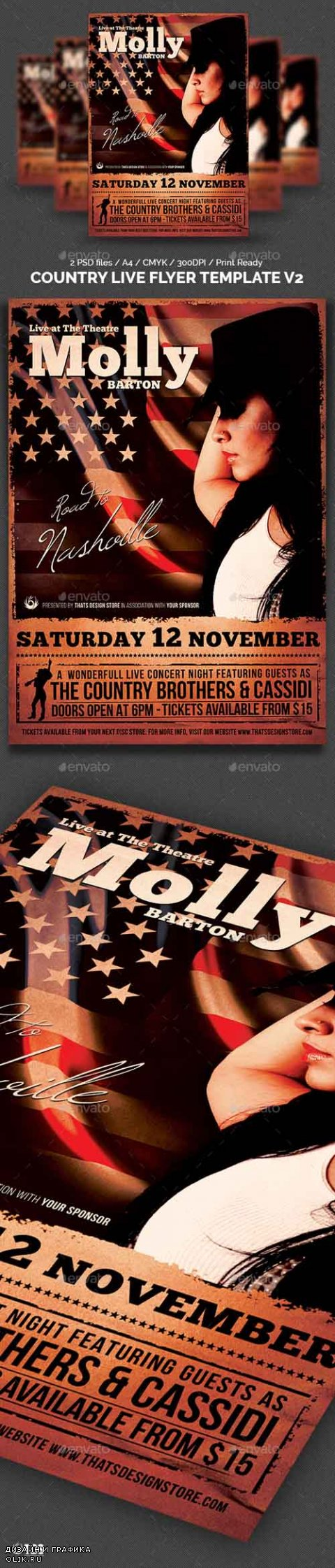 Country Live Flyer Template V2 8055448