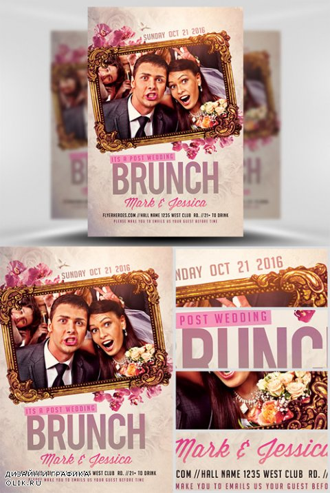Flyer Template PSD - Post Wedding