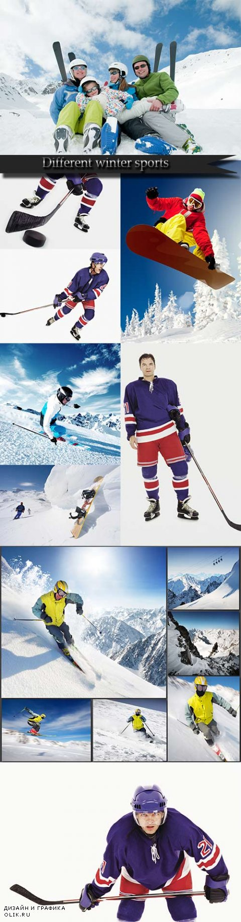 Different winter sports