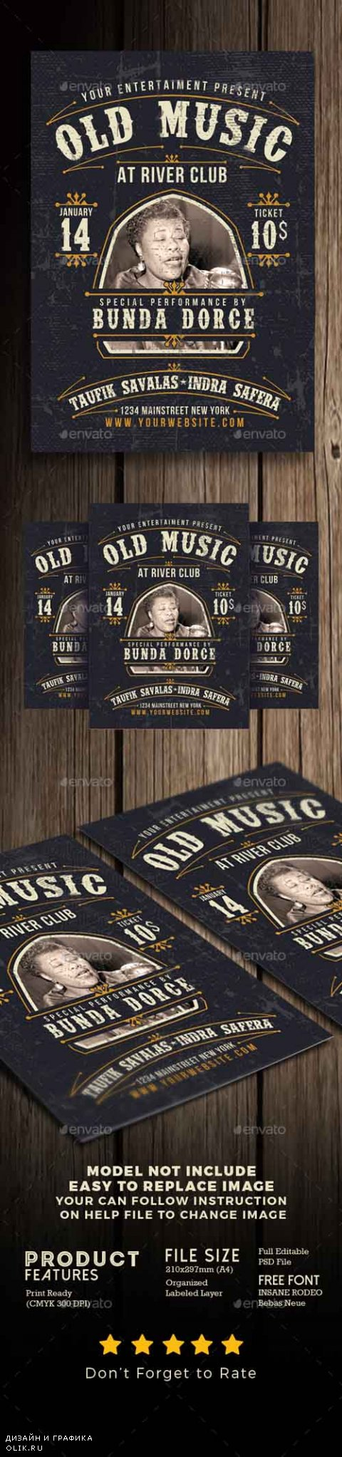 Old Music Flyer Poster 19238714