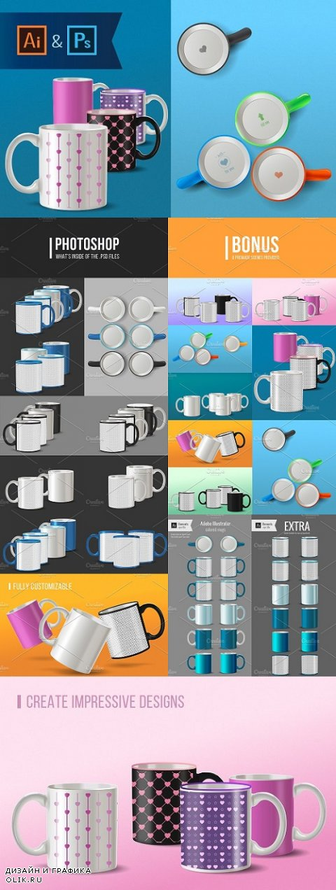 Mug Mock-ups for Ai and Ps - 1169158