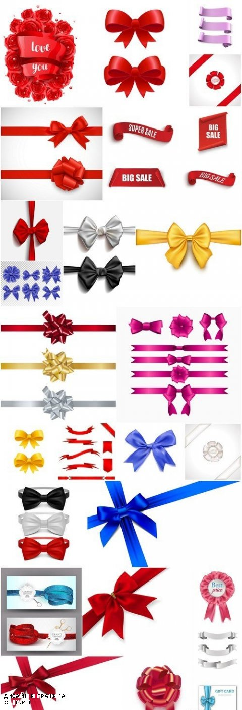 Different Bow-Knot Ribbons
