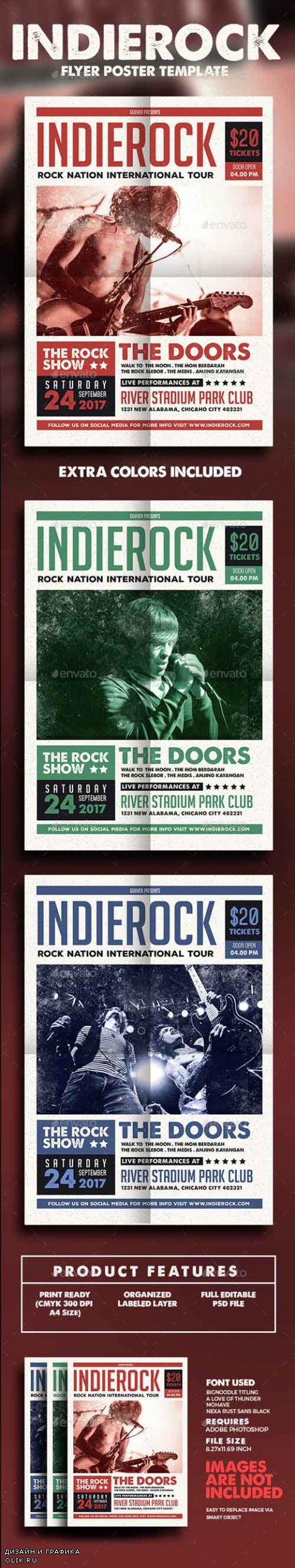 Indie Rock Flyer/Poster 14635588