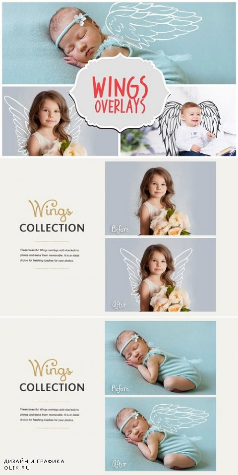 42 Angel Wings Photoshop Overlays - 711748