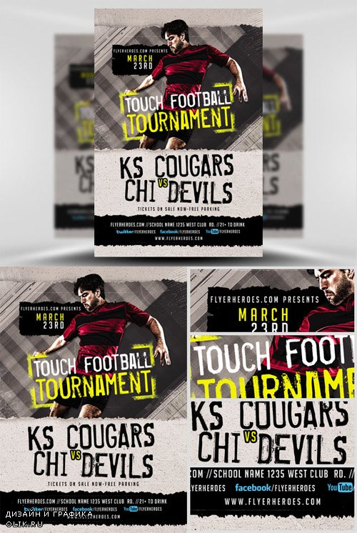Flyer Template - Touch Football Tournament