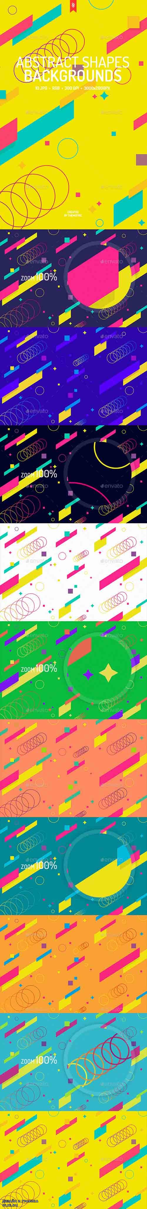 Abstract Shapes Backgrounds 19388379
