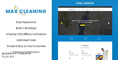 t - Max Clean v1.0 - Cleaning Business HTML Template - 19410343