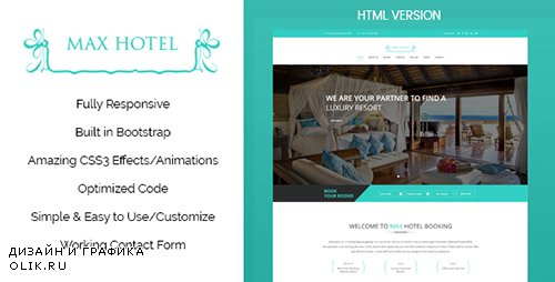 TF - Max Hotel v1.0 - Hotel Booking HTML Template - 19407173