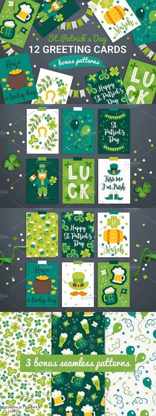 12 Patrick Cards + Bonus Patterns - 1254344